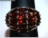 Almandite Garnet Lady's Silver & Stone Ring 925 Silver 4.2dwt Size:6